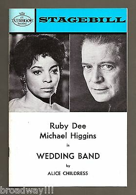 """Ruby Dee """"WEDDING BAND"""" Michael Higgins / Chicago Premiere 1972 Tryout Playbill"""