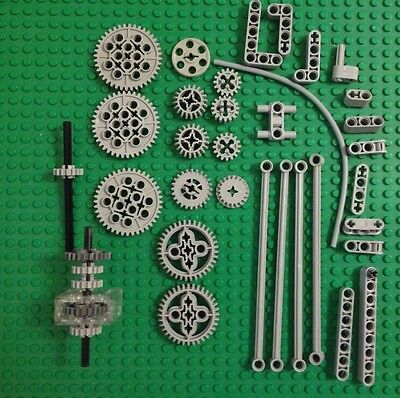 Lego Bluish Gray Gears Box Lift Arms Accessories Parts Pieces