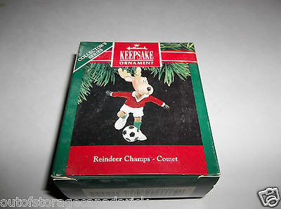Hallmark Ornament Comet Reindeer Champs 1990 5th In Series QX4433 - NEW