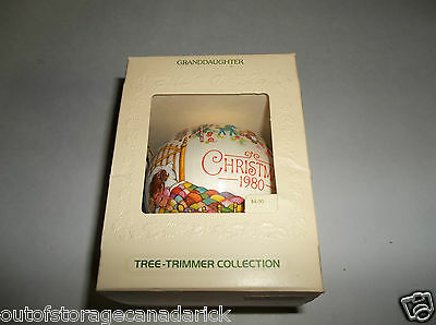 Hallmark Ornament Granddaughter 1980 Tree Trimmer Collection QX2021 - New