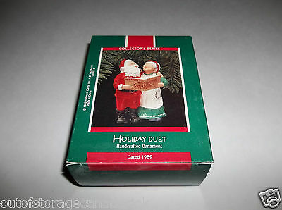 Hallmark Handcrafted Ornament Holiday Duet 1989 QX4575 - New