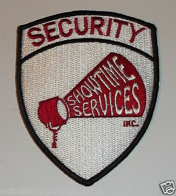 Security Showtime Services Patch Brand New Old Stock Excellent Condition Rare