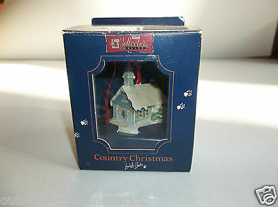 1986 Schmid Ornament Country Christmas Church by Lowell Davis 223-503 Rare