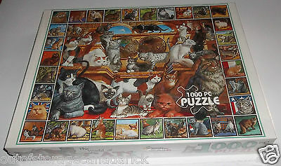 White Mountain Puzzle The World of Cats 1000 Pieces Brand New Sealed 1998