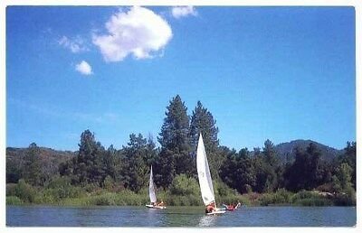BSA Orange County Council Lost Valley Lake postcard OCC