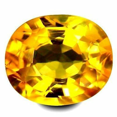 0.955Cts Extremly Golden Yellow Natural Sapphire Oval Loose Gemstones