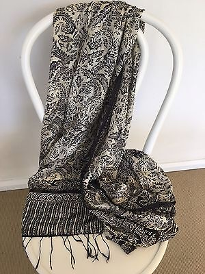Silk Sarong In Black And White
