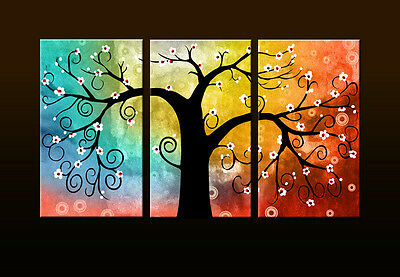 Large Rich tree Abstract Canvas Print Wall Art Painting Picture Home Decor WTH03