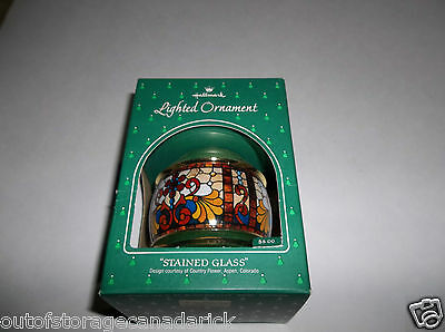 Hallmark Lighted Ornament Stained Glass 1984 QLX7031 - New