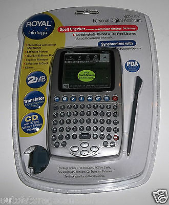 Royal ezVue2 Personal Digital Assistant Translator English, French, Spanish NEW