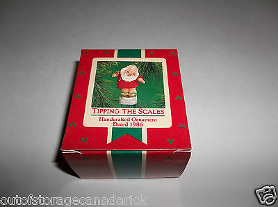 Hallmark Ornament Tipping The Scales 1986 QX4186 - NEW