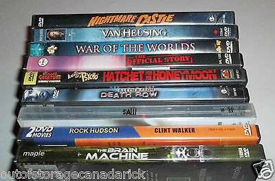 Lot of 9 DVD Horror / Thriller Movies - Great Titles - Minty Disc's