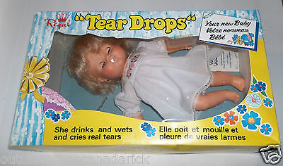 Vintage Tear Drops Your New Baby Doll Regal Toy Canada With Original Box RARE