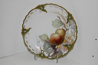 """Beautiful Antique Nymphenburg Hand Painted 8.25"""" Porcelain Cabinet Plate-Germany"""