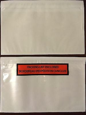 "1000 7"" x 4.5"" Packing List Envelopes Printed or Clear"