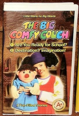 The Big Comfy Couch - Ready For School? / Destination? Imagination! - Vhs Tape
