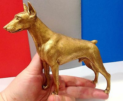 Doberman Pinscher bronze figurine dog art bronze from Russia