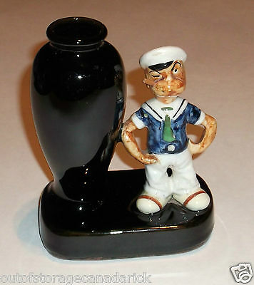 Vintage Popeye With Flower Vase Mini Collectible Very RARE Made In Japan