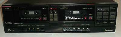 Vintage Samsung D-600C Stereo Double Cassette Deck Recorder Works Great Rare