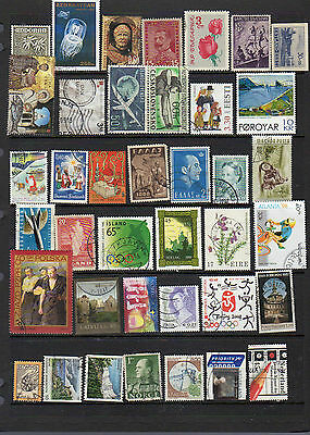 2 pages of world stamps - see scans lot three