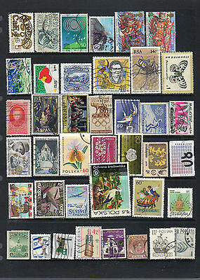 2 pages of world stamps - see scans lot four