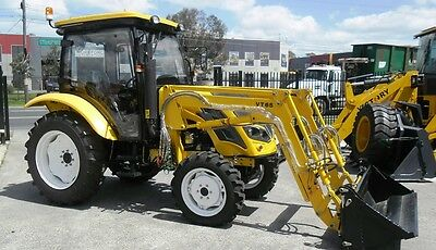 Tractor -New Victory VT65 - 4WD 65HP Tractor with Cab, Front end Loader, Slasher