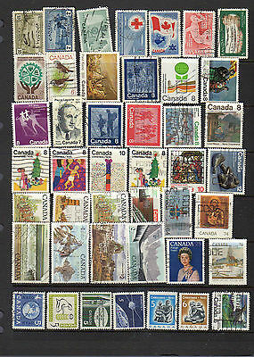 44 all different used stamps from Canada