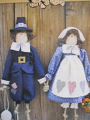""" GIVE THANKS Pilgrim Dolls"" ...Cloth Doll Pattern... by Sweet Dreams"