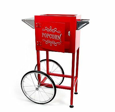 Popcorn Machine Cart or Trolley with Heavy Duty Steel & 16 Inches Wheel Red New