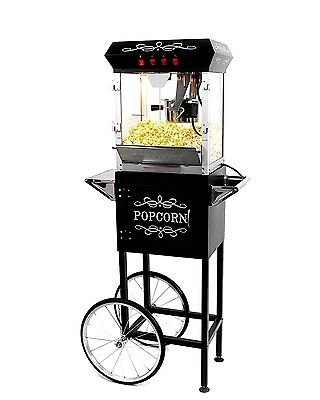 6 Ounces Popcorn Maker Machine and Cart with LED Illumination and Remote Control
