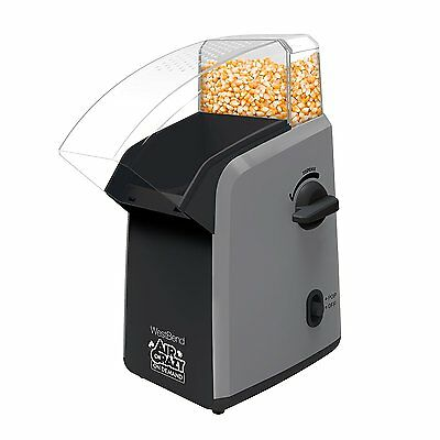 Easy to Use Popcorn Maker Machine with Kernel Storage Integrated Into Unit New