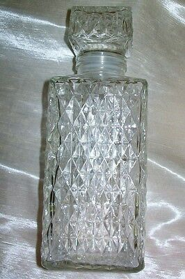 Vintage Clear Glass Decanter Square
