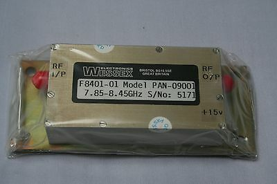 RF AMPLIFIER 7.85-8.45GHz A16 BY WESSEX ELECTRONICS HAM RADIO MILITARY SPECS