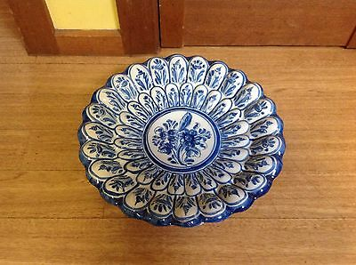 Large Hanging Blue And White Wall Plate
