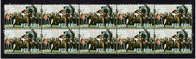 Red Rum Horse Racing Legend Strip Of 10 Mint Stamps 2