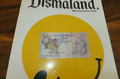 Banksy Tenner Signed with the official Dismaland programme weston super mare