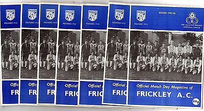 1981-1982 Frickley Home Programmes - select the one you want POST FREE