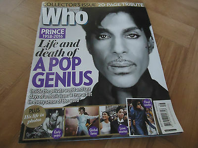 Who magazine May 9, 2016 featuring the death of Prince
