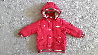 Red Baby Toddler Boys Jacket Snow Puffer Winter Warm Size 2 Pumpkin Patch Padded