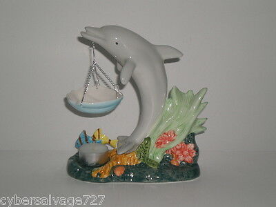 Dolphin Oil Warmer Tea light Candle Aromatherapy for Fragrance Oils Nautical