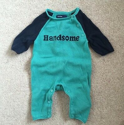 Gap Baby Boy All In One 'handsome' Romper Up To 7lbs