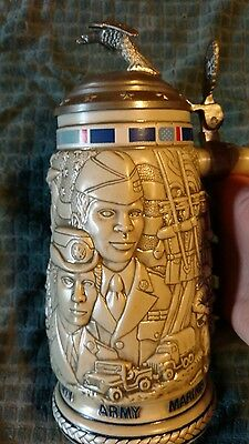 Tribute to The American Armed Forces Beer Stein 1990 Avon Collection