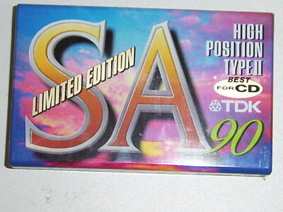 Tdk Sa 90 Limited Edition Sa90 Blank Audio Cassette New Mint Condition