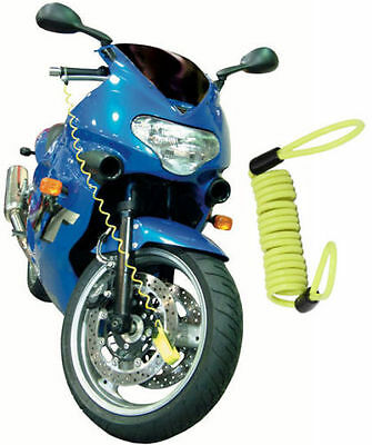 Disk Lock Reminder Motorcycle Motorbike Scooter Bike Yellow New