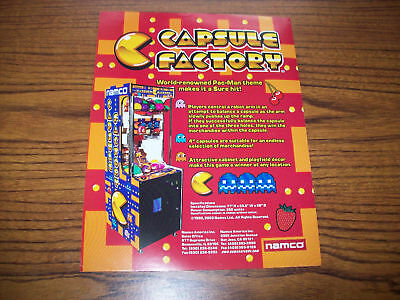 Namco Capsule Factory Arcade Novelty Game Flyer 2003
