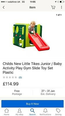 Childs New Little Tikes Junior / Baby Activity Play Gym Slide Toy Set Plastic