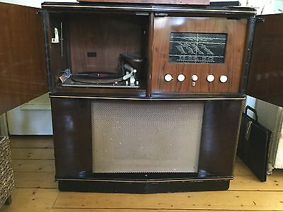 Vintage Working  Phillips Radiogram 624A with full original instructions ��