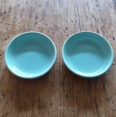 Poole TWINTONE  2 x Round Dishes(Peach Bloom/Ice Green)