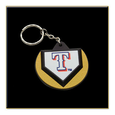 Two Texas Rangers MLB Home Plate Key Chain - Stock Clearance Sale!