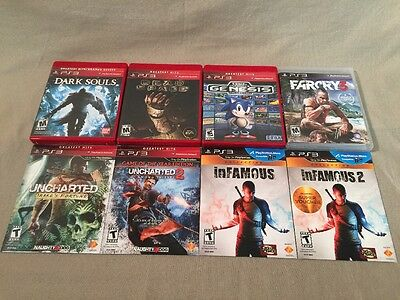 Lot Of 8 PS3 Games - Dark Souls, Sonic, InFamous, Farcry, Uncharted, Dead Space